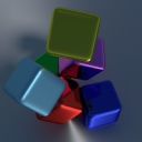 3D Colored Cubes
