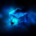 3D Mavi Küp