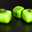 3D Yeşil Elma