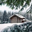 Dag Evi Kış Manzarasi