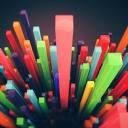 3D Renkli Çizgiler
