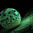 3D Yeşil Küre