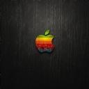Apple Siyah Deri Duvar Kağıdı