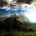 Dağ ve Güzel Gökyüzü