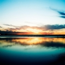 Günbatımı Göl Manzarası