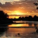 Günbatımı ve Göl