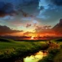 Güzel Günbatımı Manzarası