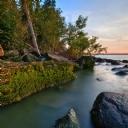 Hecla Adası Günbatımı