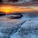 Kayalıklar ve Gün batımı