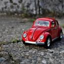 Kırmızı Volkswagen Beetle
