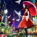 Şemsiyeli Kız Tasarım