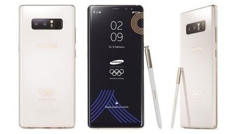 Galaxy Note 8'in 2018 Kış Olimpiyatları için üretilen sürümü tanıtıldı