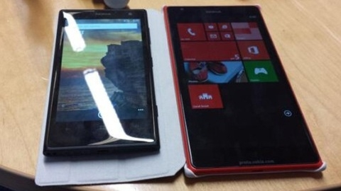 6 inçlik Nokia Lumia 1520'ye ait ilk prototip görüntüsü