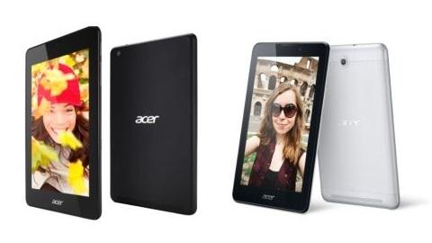 Acer Iconia Tab 7 ve Iconia One 7 bütçe dostu tabletler duyuruldu