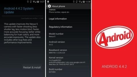 Android 4.4.2 KitKat yazılımı Nexus cihazları için yayımlandı