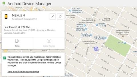 Android Device Manager kullanıma sunuldu