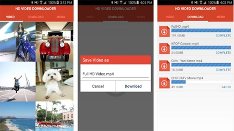 Android Free HD Video Downloader Uygulaması