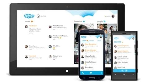 Android için Skype uygulaması yeniden tasarlandı