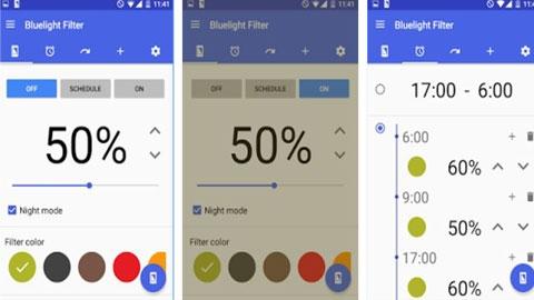 Android Mavi Işık Filtresi Uygulaması
