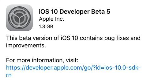 iOS 10 beta 5 yayımlandı