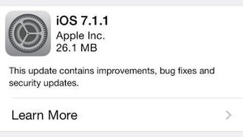iOS 7.1.1 güncellemesi yayımlandı