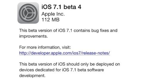 Apple iOS 7.1 beta 4 yayımlandı