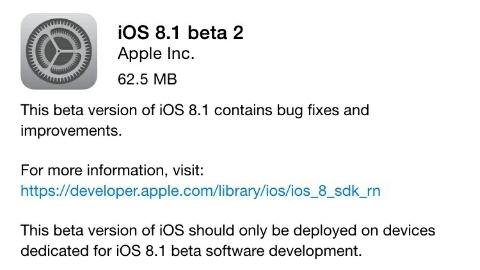 iOS 8 beta 2 resmen yayımlandı