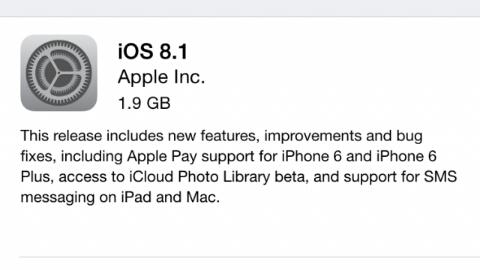 Apple, iOS 8.1 güncellemesini yayımladı