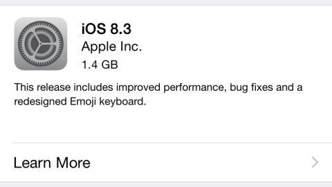 iOS 8.3 güncellemesi dağıtılmaya başladı