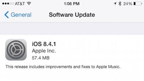 iOS 8.4.1 güncellemesi yayımlandı