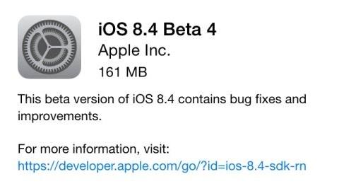 iOS 8.4 beta 4 güncellemesi dağıtılmaya başladı