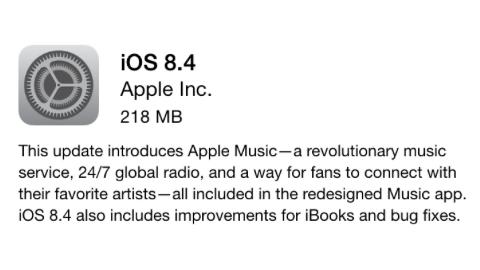 iOS 8.4 güncellemesi ve Apple Music servisi resmen yayımlandı