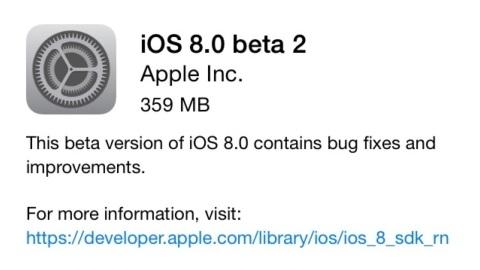 Apple iOS 8 beta 2 güncellemesi çıktı