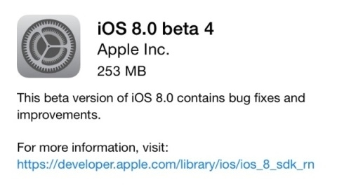 iOS 8 beta 4 versiyonu yayımlandı