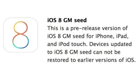 iOS 8 Gold Master sürümü yayımlandı