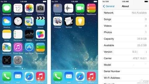 Apple iOS 8'e ait ilk görüntüler sızdı