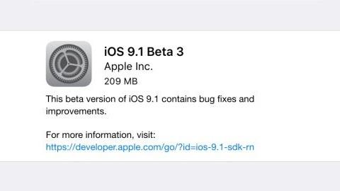 iOS 9.1 beta 3 yayımlandı