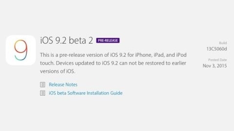 iOS 9.2 beta 2 sürümü çıktı