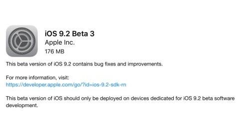 iOS 9.2 beta 3 geliştirici ve genel beta kullanıcıları için yayımlandı