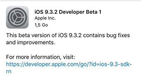 iOS 9.3.2 güncellemesi için ilk beta yayımlandı