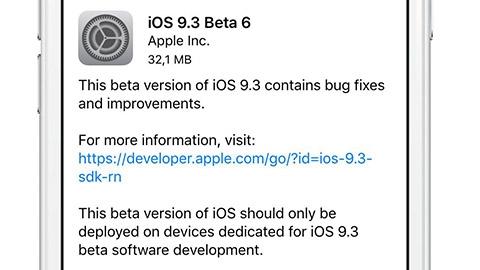 iOS 9.3 beta 6 güncellemesi yayımlandı