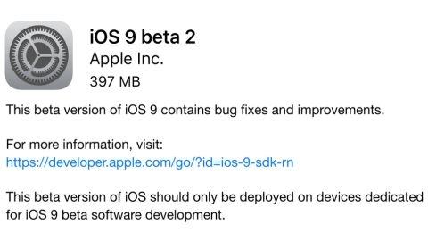 iOS 9 beta 2 güncellemesi yayımlandı