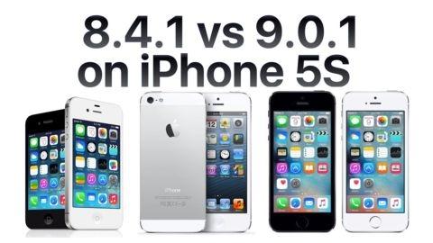 iPhone 4S, 5 ve 5s'nin iOS 9 ve iOS 8 hız karşılaştırması