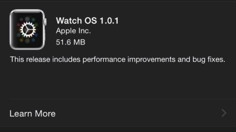 Apple Watch için Watch OS 1.0.1 güncellemesi dağıtılmaya başladı
