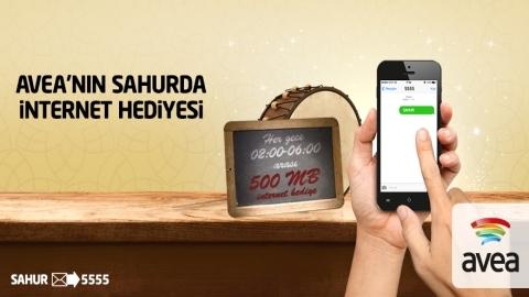 Avea'nın günlük 500 MB sahur internet kampanyası başladı