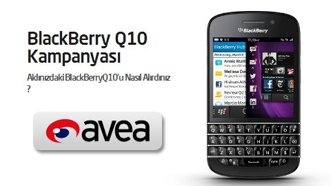 Avea BlackBerry Q10 kampanyası sözleşmeli fiyatları