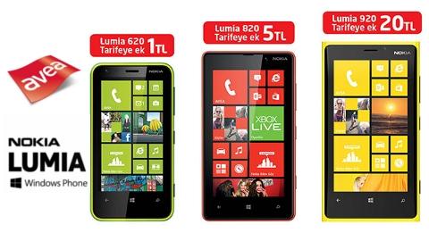 Avea Nokia Lumia 620-Lumia 820-Lumia 920 kampanyası