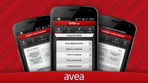 Avea Online İşlemler Android ve iOS uygulaması