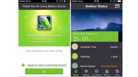 Battery Doctor iOS Uygulaması