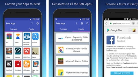 Beta Apps Android Uygulaması